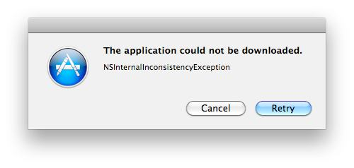 NSInternalIconsistencyException