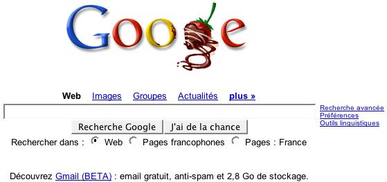 google valentine fr