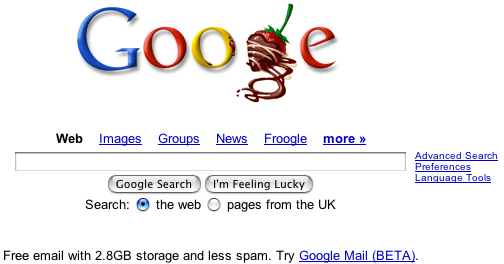 google valentine uk